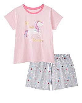 Pretty Secrets Short Sleeve Unicorn Pj