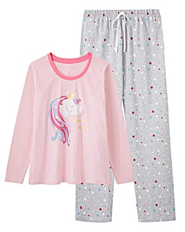 Pretty Secrets Long Sleeve Unicorn Pj