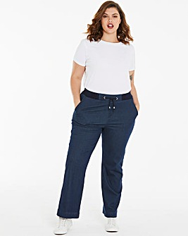 Supersoft Premium Jersey Denim Relaxed Straight Leg Jeans Regular Length