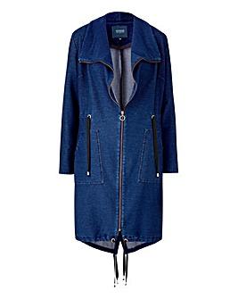 Premium Jersey Denim Waterfall Jacket