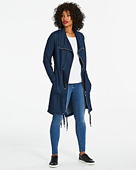 Supersoft Premium Jersey Denim Waterfall Jacket