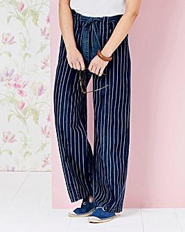 Lightweight Stripe Denim Pull-On Jeans