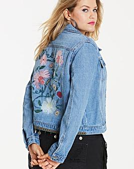 Embroidered Western Denim Jacket