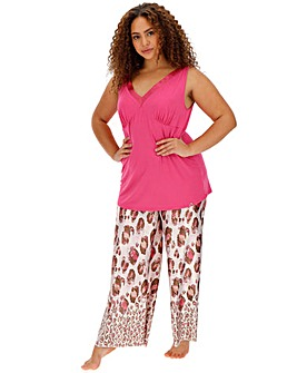 Joanna Hope Animal Print Satin Pyjama Set