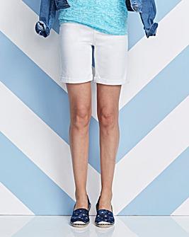 White Everyday Denim Shorts