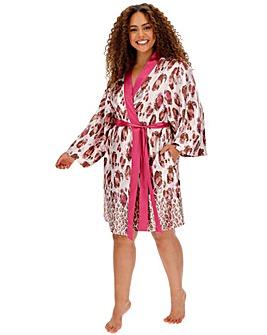 Joanna Hope Stretch Satin Kimono