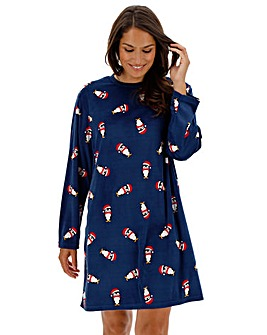 Pretty Secrets Christmas Fleece Nightie