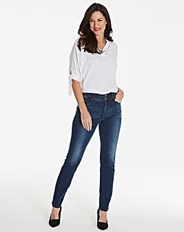 Blue Shape & Sculpt Straight Leg Jeans