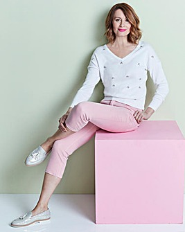 Dusty Pink Shape & Sculpt Crop Jeans