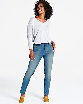 Mid Blue Sadie Slim Leg Jeans Regular