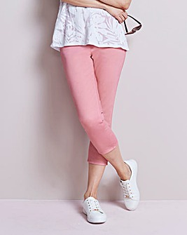 Pink Amber Pull-On Crop Jeggings