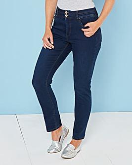 Petite Black Shape & Sculpt High Waist Straight Leg Jeans