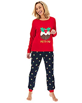 Pretty Secrets Christmas Pudding PJ Set