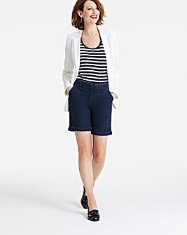 Sadie Belted Denim Shorts