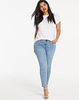 Diamante Stud Drew Straight Leg Jeans
