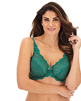 Playtex Flower Lace Full Cup Wired Black Bra