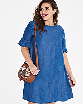 Soft Tencel Denim Swing Dress
