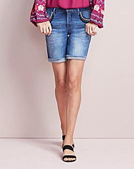 Sadie Tassel Denim Shorts