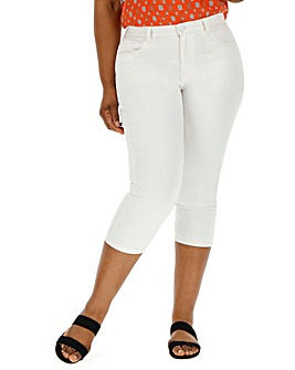 White Everyday Crop Jeans