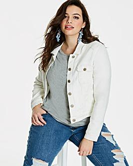 Western Style Ecru Denim Jacket