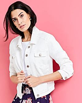 Ecru Western Style Denim Jacket