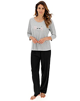 Pretty Secrets Petite 3/4 Sleeve PJ Set