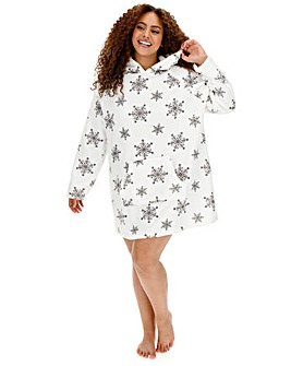 Embroidered Glitter Snowflake Dress