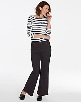 Petite Black Wide Leg Jeans