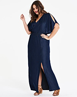 Soft Tencel Shirred Waist Maxi Dress