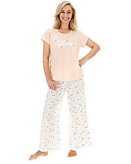 Pretty Secrets Christmas Wide Leg PJ