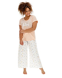 Pretty Secrets Short Sleeve Wide Leg PJ