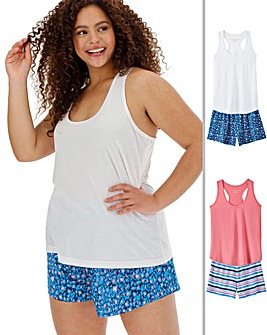 Value Two Pack Vest Shortie Sets