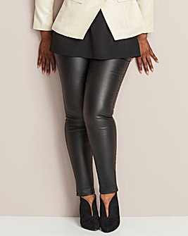 Black Sadie Coated Slim Leg Jeans