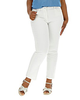 White Everyday Straight Leg Jeans
