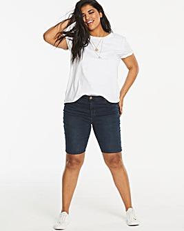 Indigo Chloe Knee Length Denim Shorts