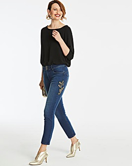 Blue Shape & Sculpt Embellished Jeans