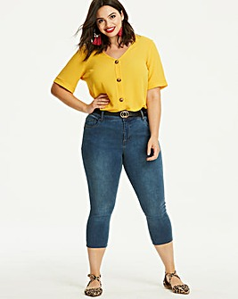 Mid Blue Shape & Sculpt Crop Jeans