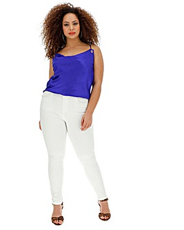White 4 Way Stretch Skinny Jeans