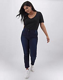 Indigo Lexi High Waist Slim Leg Jeans