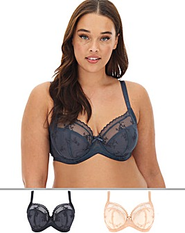 Dorina Curves 2 Pack Rena Full Cup Wired Bras