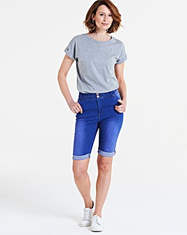Shape & Sculpt Denim Knee Length Shorts