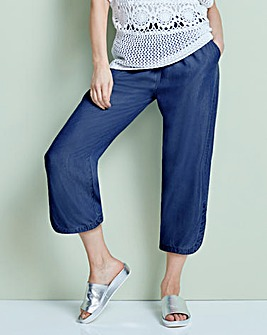 Soft Tencel Denim Wide Leg Culotte