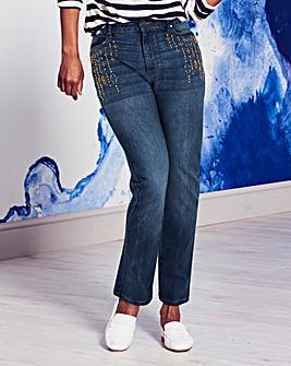 Bridget Embellished Straight Leg Jeans