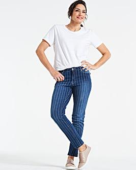 Indigo Stripe Sadie Slim Leg Jeans