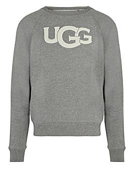 Ugg Fuzzy Logo Crewneck Sweater