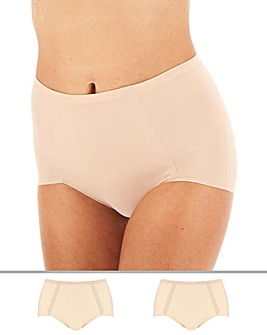 Maidenform 2Pk Sleek Smoothers Briefs