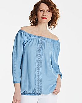 Embroidered Soft Tencel Gypsy Tunic