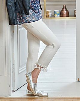Shape & Sculpt Tassel Crop Straight Leg