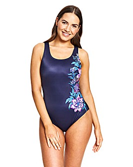 Zoggs Scoopback Tummy Control Swimsuit