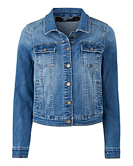 Petite Mid Blue Denim Jacket